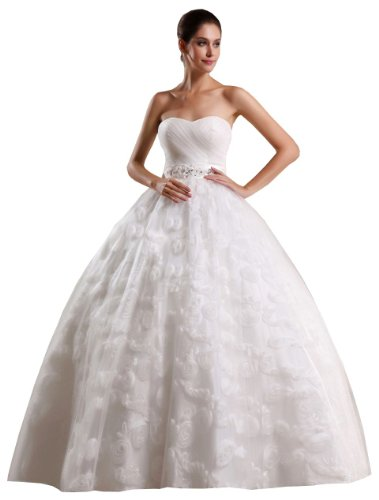 Bezauberndes Brautkleid Hochzeitskleid ohne Schleppe, mit Schnürung. Farbe creme ivory, 42