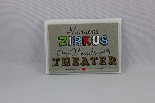 Preisvergleich Produktbild Sheepworld, Happy Life - 44104 - Magnet mit Umschlag Nr. 10, Morgens Zirkus Abends Theater