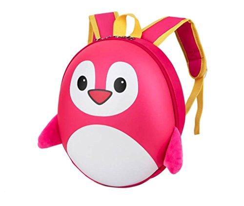 BZLine® Baby Jungen Mädchen Pinguin-Muster-Tier-Rucksack-Kleinkind-Schule-Beutel Hot Pink