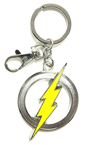 DC Comics The Flash Logo Farbe Zinn Schlüssel Ring