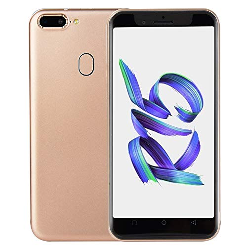 2018 Neue Smartphone Art und Weise 5,0 Zoll DoppelHDCamera Smartphone Android 6.0 IPS VOLLER Schirm GSM/WCDMA Touch Screen WiFi Bluetooth GPS 3G Anruf-Handy (Gold)