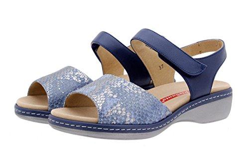 Komfort Damenlederschuh 1807 Sandale mit Herausnehmbarem Fußbett Bequem Breit PieSanto jlQOp