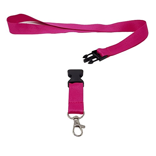 SBS Schlüsselband | 20mm | 10 Stück | Pink | Lanyard Trageband Bändel