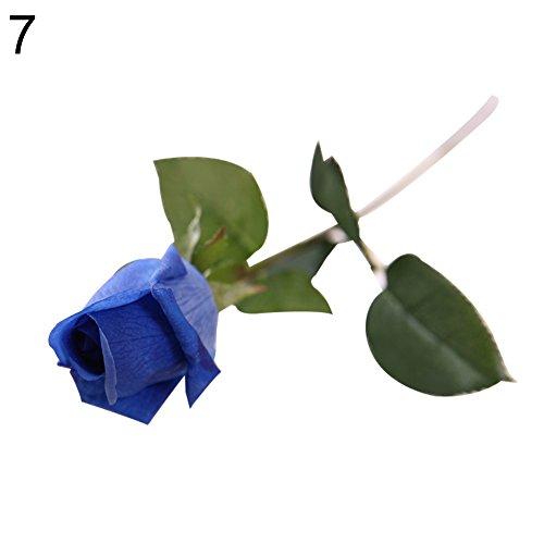 iche Rose mit Feuchtigkeit versorgt Touch Blume Hochzeit Party Home DIY Dekoration, blau ()