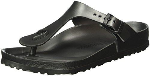 BIRKENSTOCK Unisex-Erwachsene Gizeh Zehentrenner, Grau (Anthracite), 38 - Sandale Gepäck