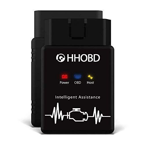 EXZA HHOBD (2. Gen.) kompaktes OBD2 Diagnosegerät - Fehler-Code-Auslesegerät zum Fehlerspeicher Lesen und Löschen, funktioniert an Allen Autos mit OBD 2, Bluetooth