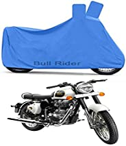 Bull Rider Two Wheeler Cover for Royal Enfield Classic 350 (Blue)
