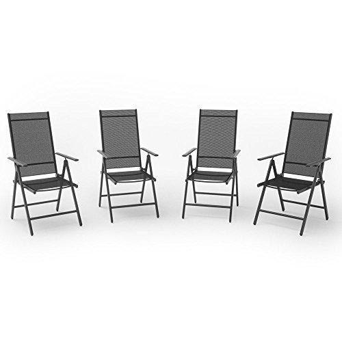 Set Di Sedie Da Giardino.Set Di Alluminio Sedie Da Giardino Sedia Pieghevole Sedia Da