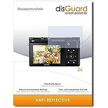 2 x disGuard Anti-Reflective Lámina de protección para Samsung NX3300 / NX-3300 - ¡Protección de pantalla antirreflectante con recubrimiento duro! CALIDAD PREMIUM - Made in Germany