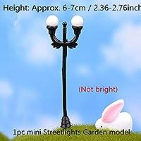 HONIC Mini balloon Rabbit bird Tortoise Miniature Figurine for fairy garden Aquarium fish tank for potted bonsai statue resin craft : 1pc mini Streetlight