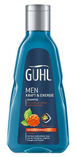 Guhl Men Kraft und Energie Shampoo - 2er Pack (2 x 250 ml) - mit Koffein und arktischer Wildbeere - für feiner werdendes Haar