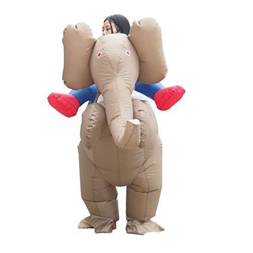 WYAJZHA Erwachsener Elefant Aufblasbare Kleidung Aufblasbares Karikaturkostüm Tierrücken Person Aufblasbare Kleidung - Für Erwachsener Elefant Kostüm