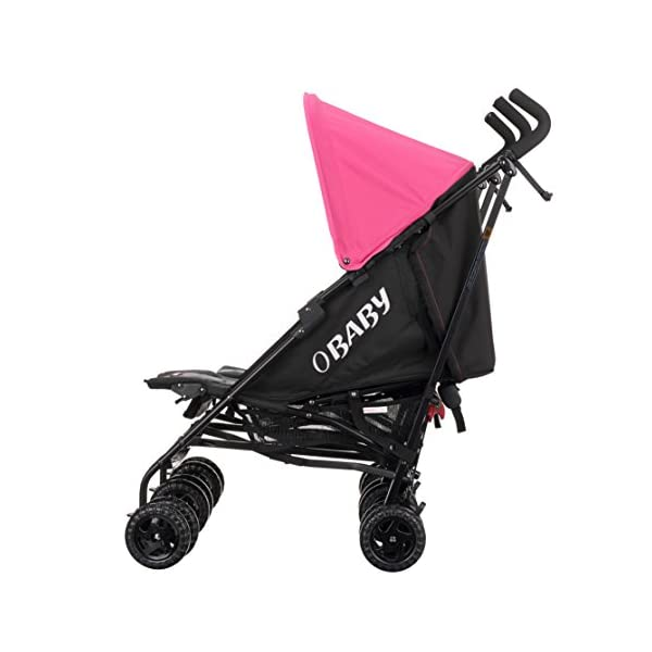 Obaby Apollo Twin Stroller - Pink/Blue Obaby Suitable from birth to a maximum weight of 15kg Independently adjustable multi position seat units Independently adjustable hoods 6