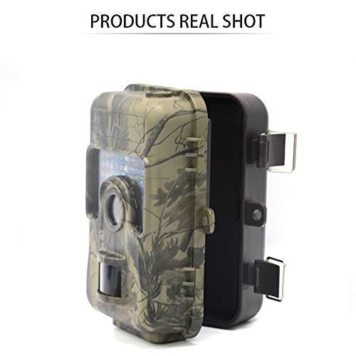 Trampa de cámara de vida silvestre al aire libre, cámara de detección de movimiento de caza de vigilancia al aire libre de 2.4 pulgadas de visión nocturna por infrarrojos impermeable al aire libre