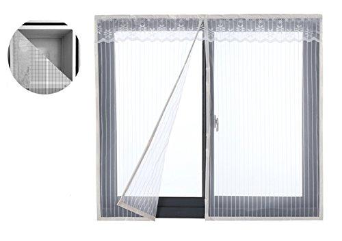 Liveinu zanzariera magnetica per porte finestre tenda zanzariera con magneti rete anti zanzare zanzariera 80x140cm bianco