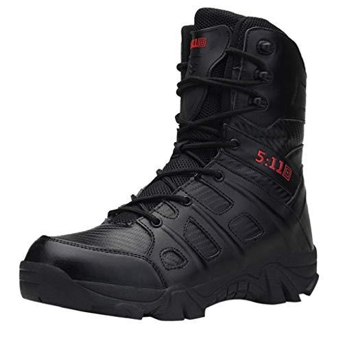 QUICKLYLY Botas para Hombre Calzado De Protección Militares Zapatos Cómodas Antideslizantes De Los...