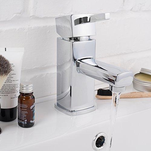 Waschtisch- Badarmatur Wasserhahn Einhebelmischer mit Ablaufgarnitur