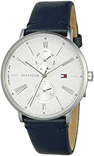 Tommy Hilfiger Women'S White Dial Blue Leather Watch - 178