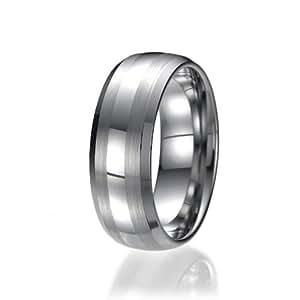 8mm Men's Tungsten Carbide Ring Wedding Band