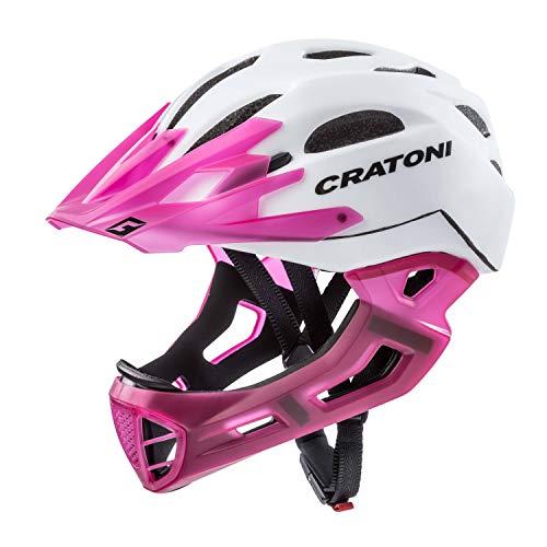 Cratoni Downhill Helm C-Maniac, White-lucentpink matt, Gr. L-XL (58-61 cm)
