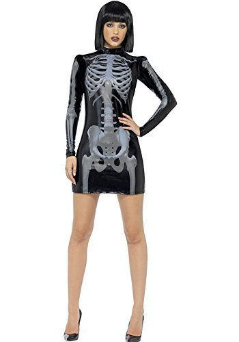 Skelett Damen Sexy Halloween-Kostüm, alle (Sexy Outfit Zombie)
