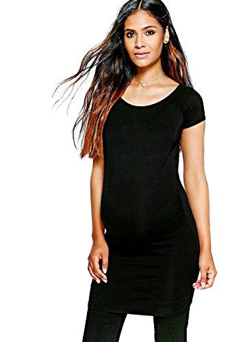 Noir Femme Hayley T-shirt De Grossesse Over The Bump Noir