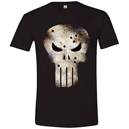 Marvel Punisher Shot - Camiseta para hombre, color negro, talla M/M