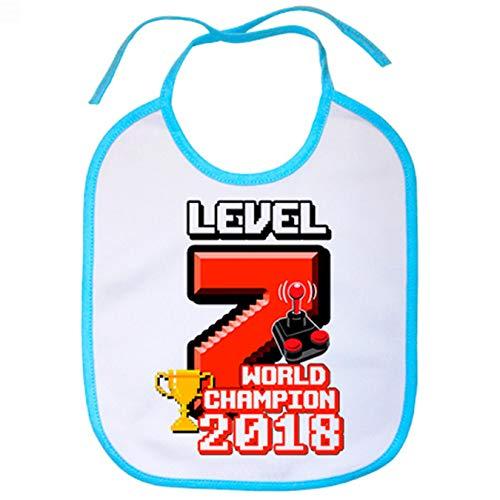 Babero Campeón Moto GP 2018 Level 7 World Champion - Celeste