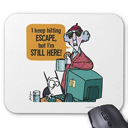 Maxine Escape Button Mouse Pad 18cm x 22cm Womens Lo Pro Button