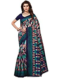 Netra Fashion Women's Latest Design Bhagalpuri Silk Saree With Blouse Piece(NFS1983_Multi-Color_Free_Size)