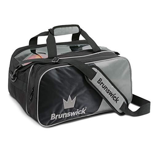 Brunswick Crown Double Bowling Ball Zweiballtasche inkl. Adressanhänger (Silber, Double Tote Plus)