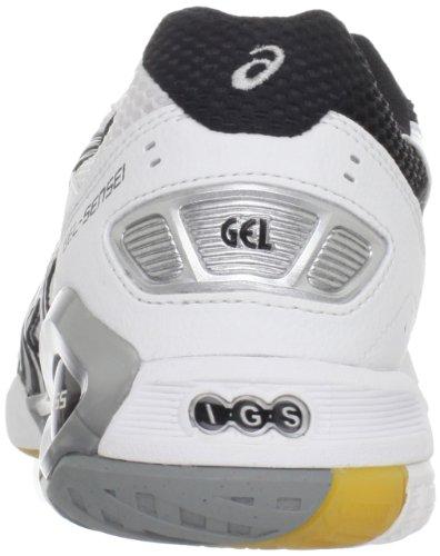 Asics Gel-Sensei 4 Femmes Synthétique Baskets White-Black-Silver