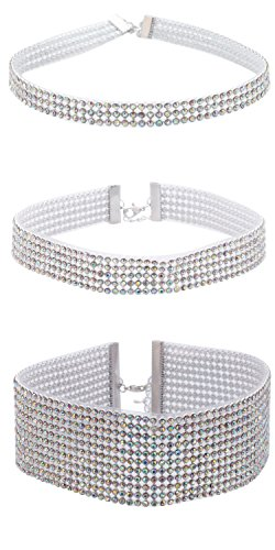 Sasairy Mujer elegante Choker Necklace con Strass Brillante Collar