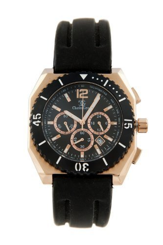 Charles Gerard EAGLE by Oskar Emil Gents chronograph watch with silicone strap