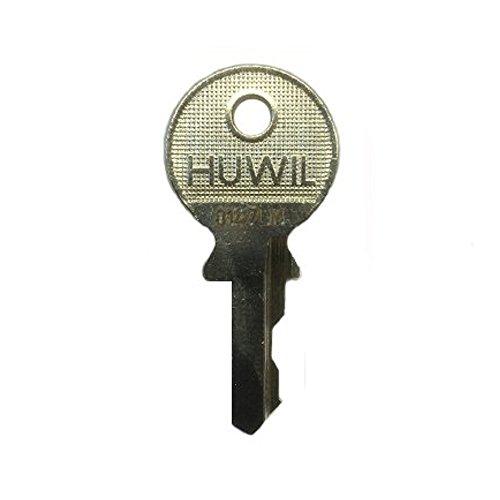 HUWIL Ersatzschlüssel IG - Schließung IG 15501 bis IG 16000 - Nachschlüssel - Zusatzschlüssel - u.a. für Hebelzylinder,Möbelschlösser,Schrankschlösser - Schließung IG 15842