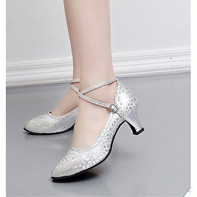 Wuyulunbi@ Donna Glitter scintillanti Paillette tallone Professional spumanti fibbia Glitter tallone oro argento rosso US9 / EU40 / UK7 / CN41