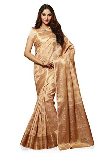 Meghdoot Artificial Tussar Silk Saree (SIYAA_MT1280_TASSAR Woven Beige Colour Sari)