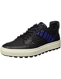 Bikkembergs Track-er 770 Low Shoe M Leather/Fabric, Sandalias con Plataforma para Hombre