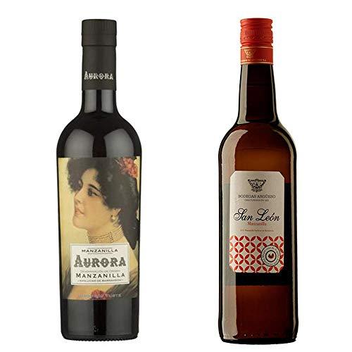 Manzanilla Aurora Y Manzanilla San León - D. O. Manzanilla De Sanlúcar De Barrameda - 2 Botellas De 750 Ml