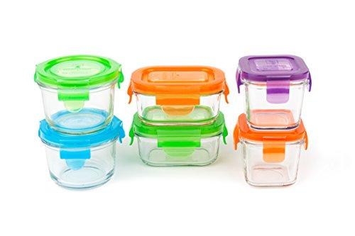 Destete Verde, Conjunto de contenedores de alimentos, vidrio, 6 uds., Multi...