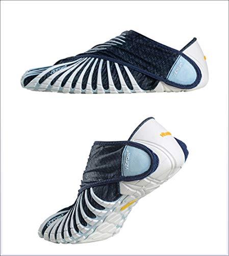 Vibram Furoshiki Phulkari Sneakers, Schuhe mit Wickeln, Schuhe mit fünf Zehen, leichte tragbare Outdoor-Wanderschuhe, Männer und Frauen, Sportschuhe,Natural,XL