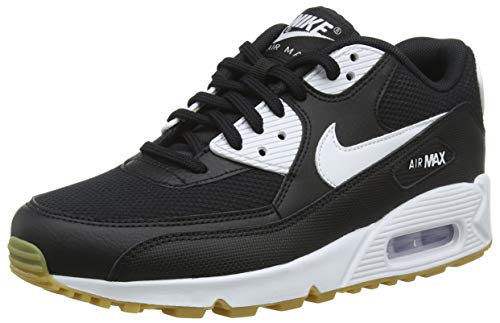 uk availability 10122 446a6 Nike WMNS Air Max 90, Sneakers Basses Femme, Multicolore (Black Gum Light  Brown