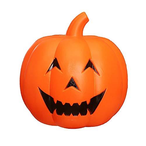 CSDM.AI Kürbis Laterne Flash Halloween Sprachsteuerung Musik Dekoration Nachtlicht (32Cm)