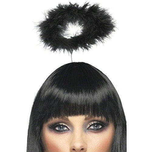 Engel Haarreif Heiligenschein Schwarz Kopfschmuck Engelschmuck Engels Accessoire Kostüm Zubehör Halloween