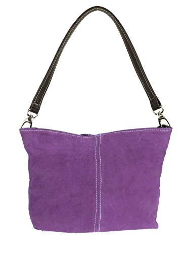 Craze London, Borsa a spalla donna M Light Purple