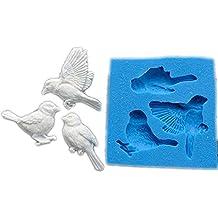 Molde de silicona para fondant con diseño de pájaros de Sugarcraft