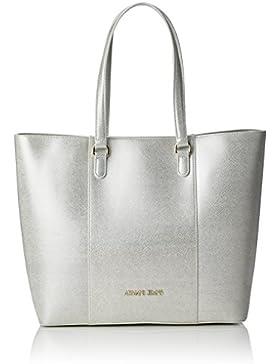Armani Jeans 9221857P763 Damen Shopper 12x32x44 cm (B x H x T), Silber (PLATINO 00417)