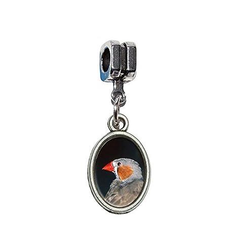 Australian Zebra Finch–Bird italienischen europäischen Euro-Stil Armband Charm Bead–für Pandora, Biagi, Troll,, Chamilla,, andere