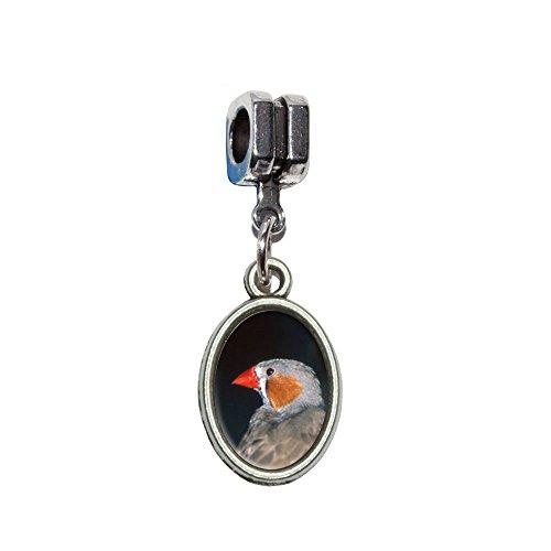 Australian Zebra Finch–Bird italienischen europäischen Euro-Stil Armband Charm Bead–für Pandora, Biagi, Troll,, Chamilla,, ()