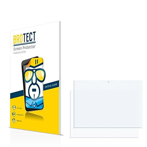 2x BROTECT Displayschutzfolie HP Notebook x2 10-p003ng Schutzfolie Folie - Klar, Anti-Fingerprint